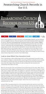 Church Genealogy Researching Church Records In The U S Organizing