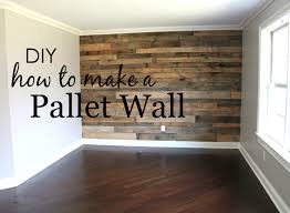 how to build a pallet wall project