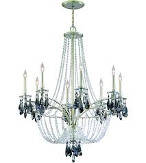 corbett lighting la scala 8 light chandelier in silver leaf finish 133 08 photo