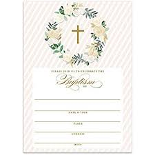 Baptism Cards Amazon Com Neutral Baptism Invitations With Envelopes Pack