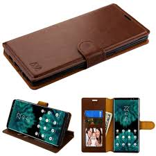 insten stand folio flip leather case cover for samsung galaxy note 9 brown 0