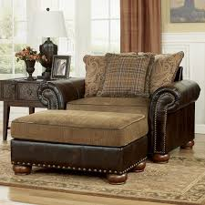 leather chair and a half with ottoman unbelievable briar place antique for the home ideas