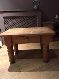 solid chunky pine coffee side table