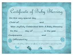 Baby Certificate Maker Extraordinary Certificate Of Baby Blessing Free Printable Template Prayers