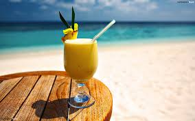 Beautiful Beach com Drinks Beachauresqueue And Wallpaper