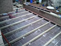floating deck over concrete patio decking over concrete a wood building a floating deck over a