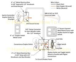how to wire an attic electrical outlet and light throughout 2 Home Wiring Diagrams Switch Outlet at Wiring Diagram 4 Outlets 1 Switch