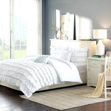 black ruffle comforter intelligent design waterfall comforter set ruffle white black ruffle comforter full
