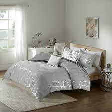 luxury grey metallic silver geometric
