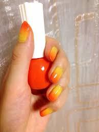 イエローオレンジグラデーションネイル Nail Design オレンジ ネイル