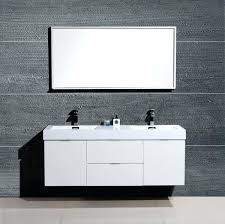 wall mounted sink vanity bliss high gloss white wall mount modern bathroom vanity double sink wall wall mounted sink vanity