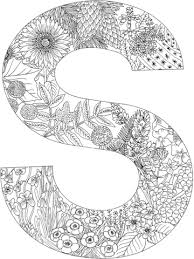 Small Picture Letter S coloring page from English Alphabet with Plants category