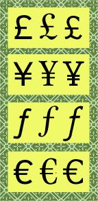 Currency Symbols Fonts Com Fonts Com