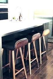 stool back island black leather wooden
