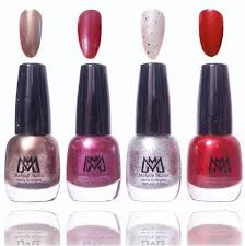 makeup mania premium collection nail polish bo of 4 frost shine nail enamels mm 28 multicolor pack of 4