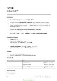Resume Format Doc Hr Resume For Study