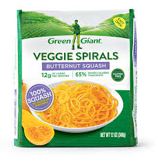 Spaghetti Squash Nutritional Values Green Giant Veggie Spirals Butternut Squash