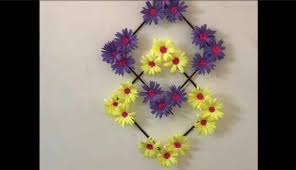 how to make paper flower wall hanging tutorial
