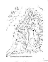 Virgen De Guadalupe Coloring Page Coloring Home