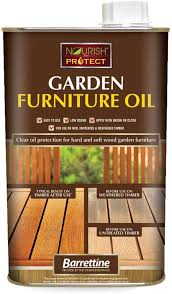protect garden furniture clear oil