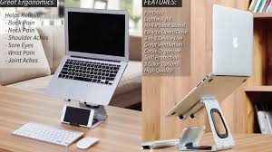 The World's Best Laptop Stand. Lightweight, Portable Stand with Lower Phone  Display, Laptop