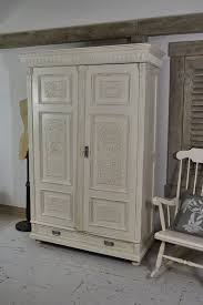 white wood wardrobe armoire shabby chic bedroom. This Shabby Chic Antique Pine Wardrobe From Holland Has Stunning Carved Wood Detail And Plenty Of White Armoire Bedroom .