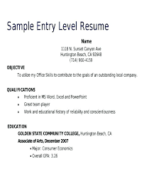 Example Of Entry Level Resume Impressive Resumes Examples For Retail Manager Resume Sample Download Assistant