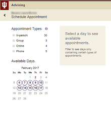 Group Scheduler Schedule An Appointment With An Advisor In The Student
