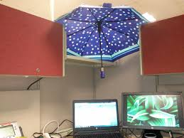 office cubicle lighting. umbrella over cubicle office lighting