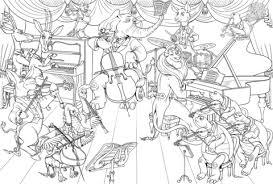 Disegno Di Tutti Gli Animali Suonano Strumenti Musicali Da Colorare