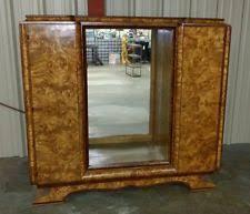 amazing antique art deco burl maple liquor cabinet bar art deco furniture cabinet