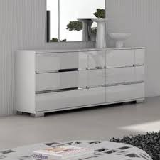 white high gloss dresser. Salerno Drawer Double Dresser Intended White High Gloss Wayfair