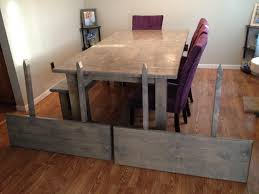 farmhouse table extension and bench diy dining room