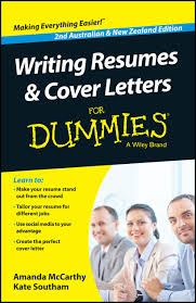 Writing Resumes And Cover Letters For Dummies Australia Nz By
