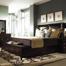 Long Bedroom Bench Long End Of Bed Storage Bed With Leather Seat And Four Drawers In