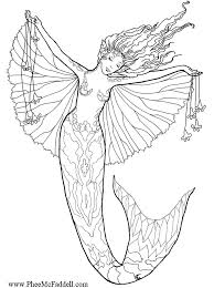 Small Picture Detailed Mermaid Coloring Pages GetColoringPagescom