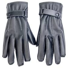 men s faux leather touchscreen gloves