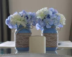 Blue Mason Jars Wedding Decor Blue mason jars Etsy 58