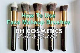 bh cosmetics face makeup brushes set tutorial how to use