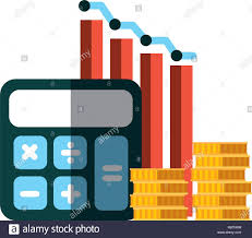 Business Calculator Chart Money Report Stock Vector Art