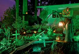 halloween outdoor lighting. Halloween Outdoor Lighting. Front Yard Displays Lights Home Lighting A N