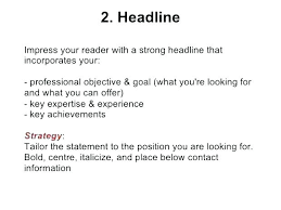 Resume Headline Fascinating Sample Of Resume Title Resume Headline Sample Resume Headline