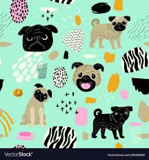 Cute dogs seamless pattern childish ...