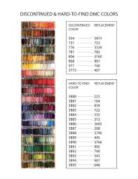 Shop our real thread color cards made from actual dmc threads. Discontinued Dmc Colors Their Replacements Chart Scribble Stitch
