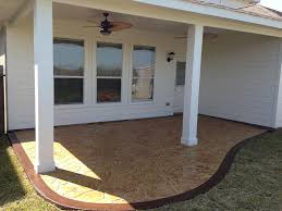 covered stamped concrete patio. Texas_Custom_Patios Simple Patio Cover And Stamped Concrete   By  Covered