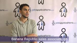 banana republic interview s associate