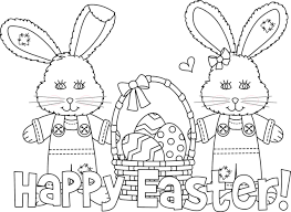 Small Picture Happy Easter Bunny Coloring Pages Pictures gobel coloring page