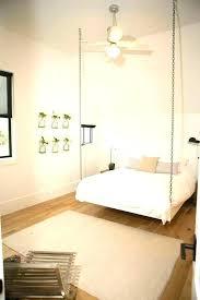 hanging bed frame suspended bed frame hanging bed frame fun bedroom features a hanging bed suspended