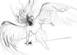 Angel Sketch The Book Of Straw Angel Sketch