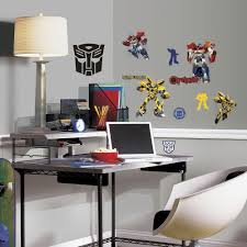 multi color transformers autobots l and stick wall decals